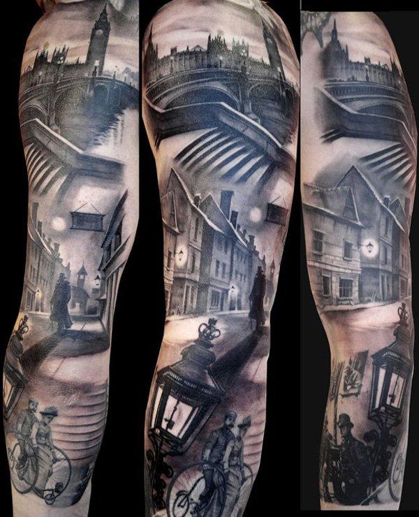 Increible tatuaje mangas